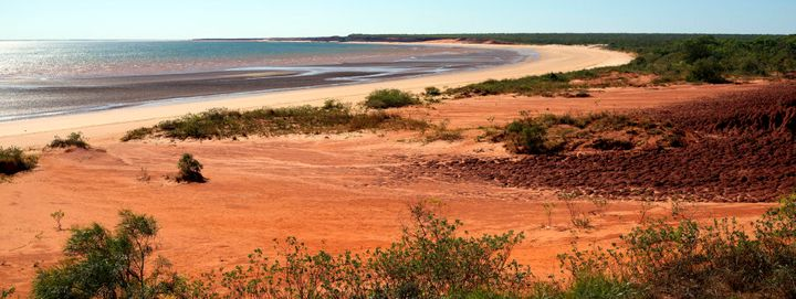 The Kimberley coast is rugged and striking.
