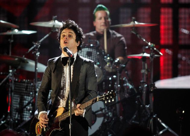 Green Day perform during the 2015 Rock and Roll Hall of Fame Induction Ceremony in Cleveland,