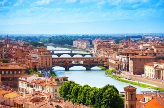 The Ponte Vecchio was the only bridge the retreating Germany army left standing during the Second World War.