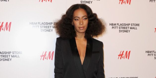SYDNEY, AUSTRALIA - OCTOBER 29: Solange Knowles arrives at the H&M Sydney Flagship Store VIP Party on...
