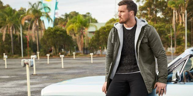 A campaign shot from Aussie brand Johnny Bigg -- a menswear label catering to bigger men who are 'forgotten' by mainstream fashion.