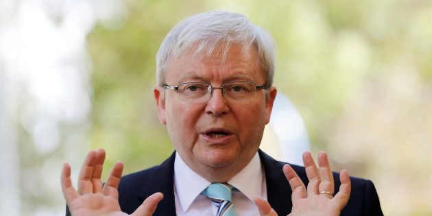 Former Aussie PM Kevin Rudd has the backing of the Labor party for his  tilt to become UN boss.