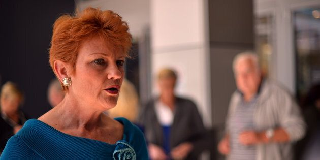 George Brandis says Pauline Hanson's views are shared by many in
