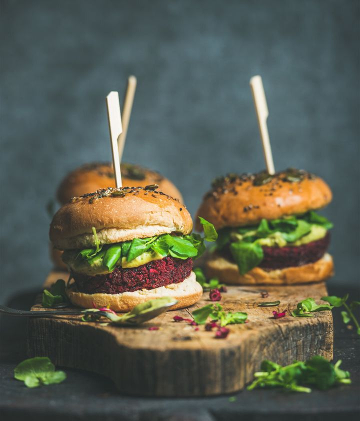 Try your hand at making veggie burgers using black beans, quinoa and beetroot.