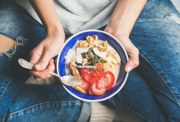 Eating a healthy diet can help keep friendly gut bacteria in balance.