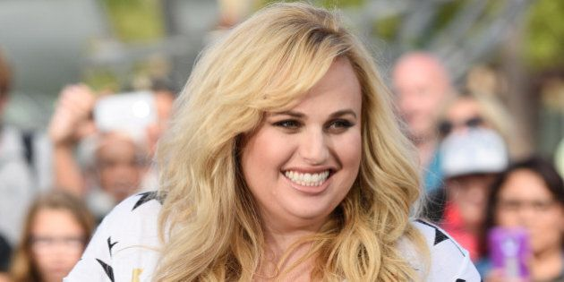 UNIVERSAL CITY, CA - OCTOBER 27: Rebel Wilson visits 'Extra' at Universal Studios Hollywood on October...