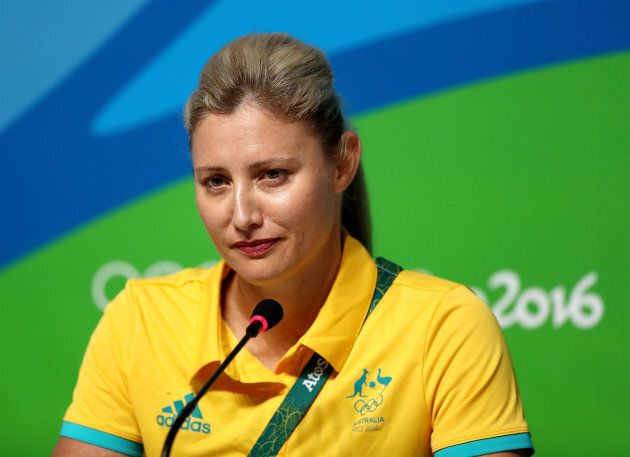 De Jong in Rio before she quit the