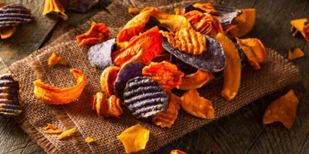 Healthy Organic Vegetable Chips Ready to