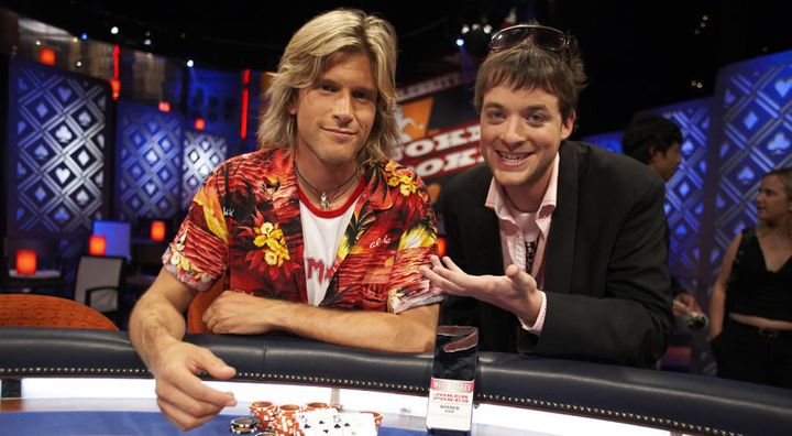 Andy G and a little boy we presume to be comedian Hamish Blake.