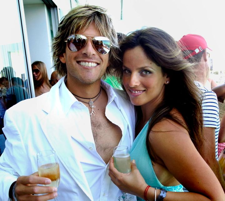 A new year's day tousled look with former wife Noa Tishby at Bondi Icebergs.