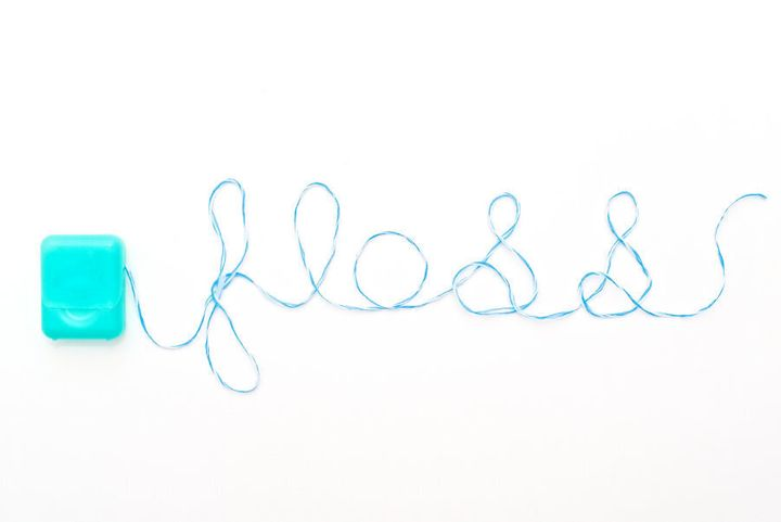 Print this pretty floss decoration out and stick it on your mirror. Whatever it takes...