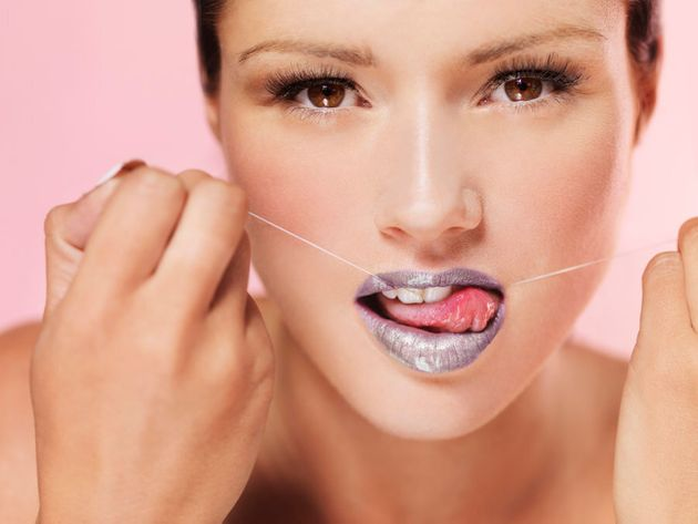 Okay, so this isn't actually how you floss. But ten points for
