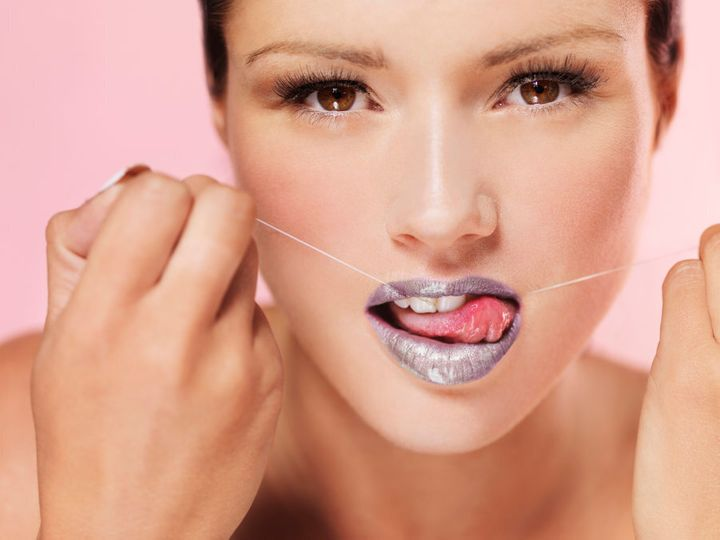 Okay, so this isn't actually how you floss. But ten points for trying.