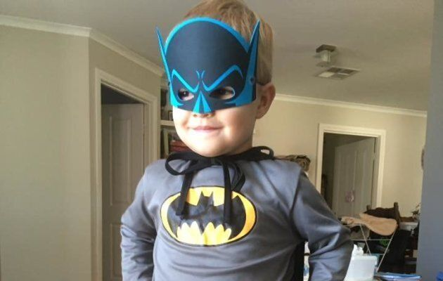 Eamon Obst, 3, also known as Batman.