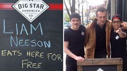A Sandwich Shop Made A Joke About Liam Neeson Eating For Free So He Showed