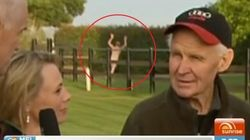 Streaker Crashes Sunrise's Live Melbourne Cup