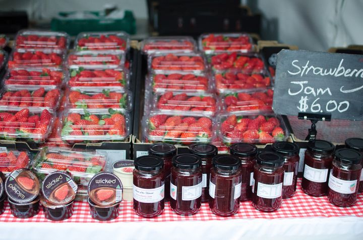 The absolutely delicious strawberries that were up for grabs.