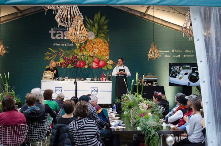 Irish chef Alastair McLeod making vegetables the hero in his cooking demonstration.