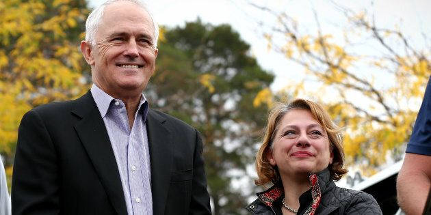 Prime Minister Malcolm Turnbull with former MP Sophie Mirabella.
