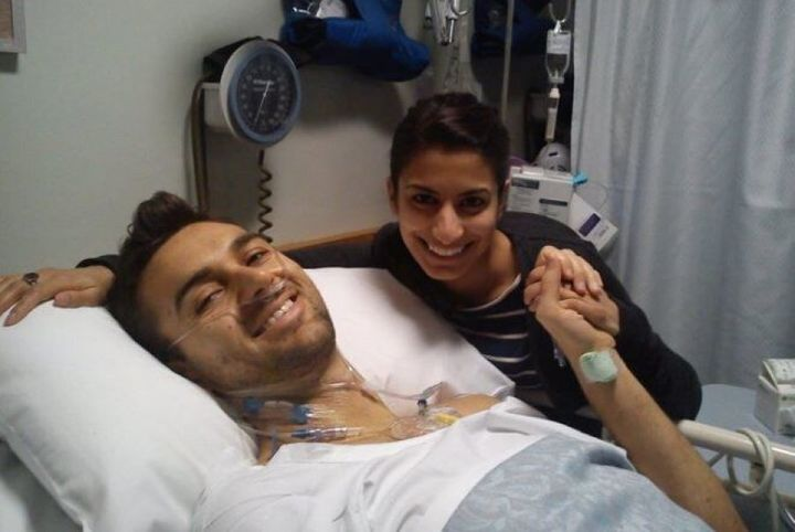 Ben and his girlfriend during treatment.