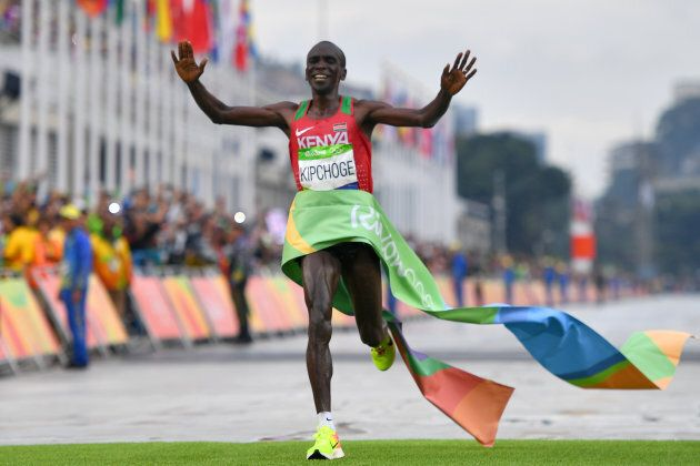 Kipchoge wins in Rio. He'll have to go eight minutes quicker this