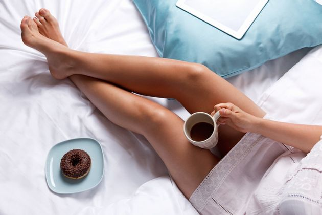 There's nothing like a doughnut and tea after a long