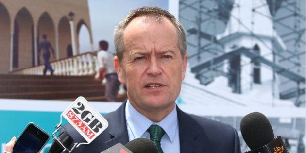 SYDNEY, AUSTRALIA - OCTOBER 31: Australian Opposition Leader Bill Shorten talks to the media after attending...