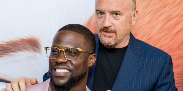 NEW YORK, NY - JUNE 25:  Actors  Kevin Hart and Louis C.K. attend 'Secret Life Of Pets' New York Premiere on June 25, 2016 in New York City.  (Photo by Roy Rochlin/FilmMagic)