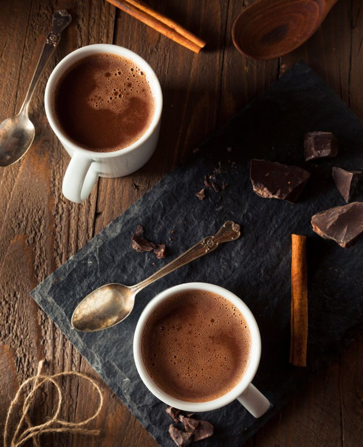 For a sweet treat, swap milk chocolate for dark chocolate or a homemade hot chocolate.