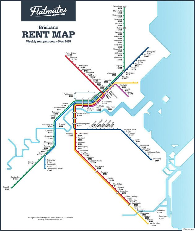 Rent By Train Station Maps For Sydney, Brisbane And Melbourne From Share Accommodation Site