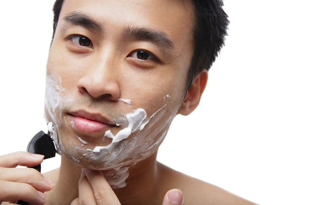 Men should avoid shaving too close to the skin. Also, try using hair conditioner instead of shaving