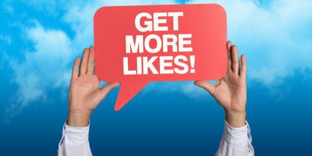 'Get More Likes' written in a Speech Bubble