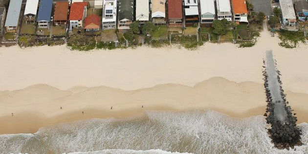 The increasingly eroded Gold Coast coastline. It is just a few km from the National Climate Change Adaptation...