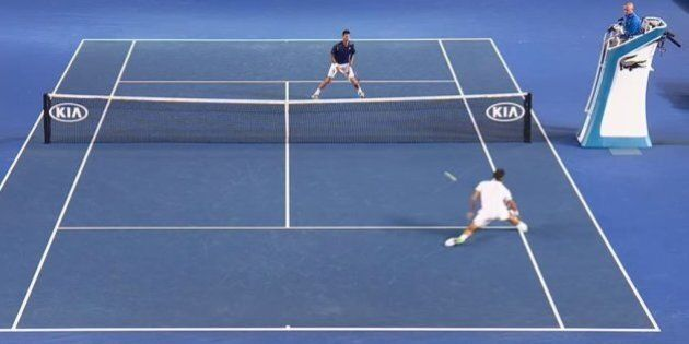 Roger Federer Invents Ridiculous New Tennis Shot In Loss To Novak
