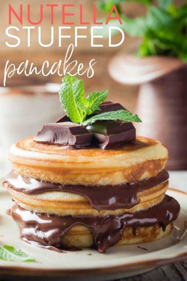 These Nutella-Stuffed Pancakes Are What Brunch Was Made