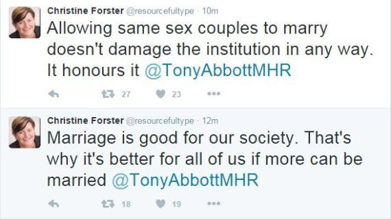 Tony Abbott's Sister Christine Forster Publicly Slaps Him Down On Marriage Equality
