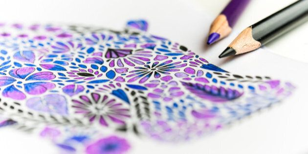 I bought an adult colouring book recently. It's been amazing. I find it so relaxing, and peaceful to just sit and colour in silence. It's certainly provided some needed tranquility of late.
