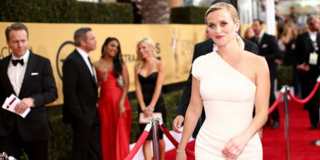 LOS ANGELES, CA - JANUARY 25:  Actress Reese Witherspoon attends TNT's 21st Annual Screen Actors Guild Awards at The Shrine Auditorium on January 25, 2015 in Los Angeles, California. 25184_013  (Photo by Christopher Polk/WireImage)