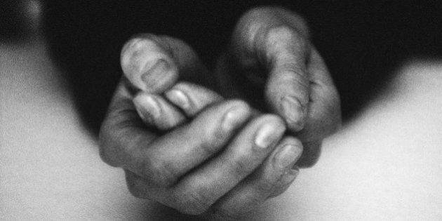 Hands together, close-up,