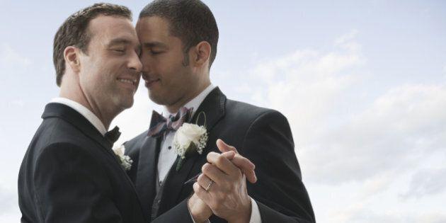 Newlywed grooms