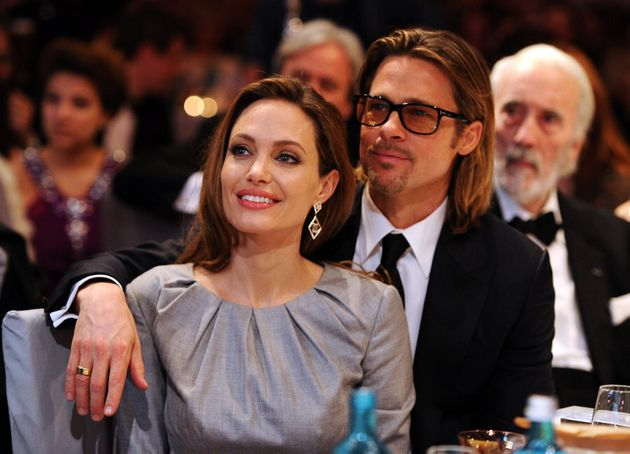 Angelina Jolie and Brad Pitt attend the