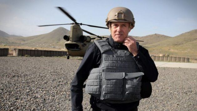 Malcolm Turnbull on a recent visit to Afghanistan, where he met the U.S. Secretary of DefenseJim Mattis and General John Nicholson, the commander of allied forces in Afghanistan.