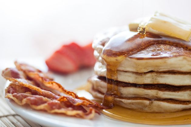 Pancakes and bacon, you