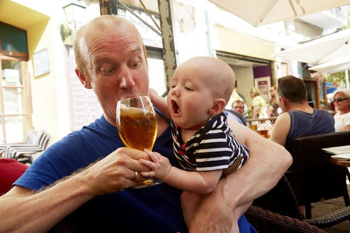 Some babies want alcohol even when they're not breastfeeding.