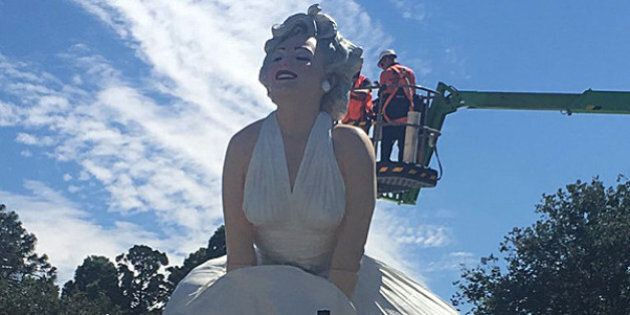 Marilyn Monroe Tribute Statue Takes Centre Stage In