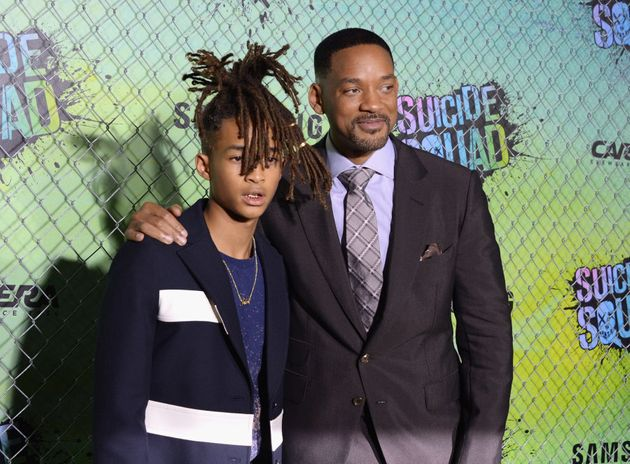 Jaden Smith and Will Smith on the black