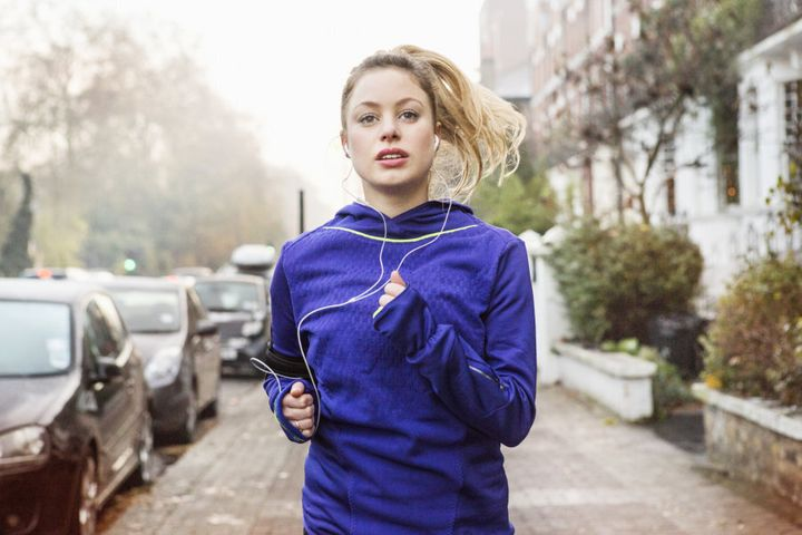 Running is an awesome way to zone out and de-stress.