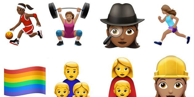 Some of the new emojis in the iOS 10