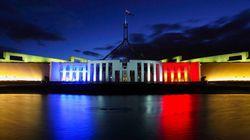 Vive La France! Parliament Lights Up For