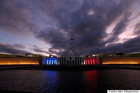 Australia's Federal Parliament Lights Up For